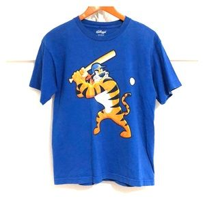KELLOGG'S Tony the Tiger Baseball Graphic Tee Blue